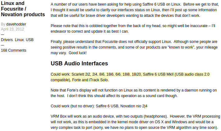 linux-focusrite-support